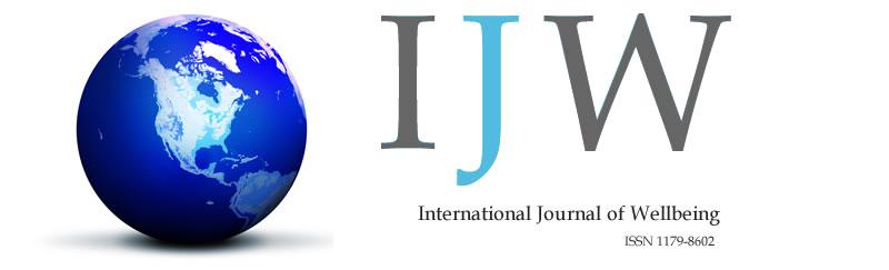 International Journal of Wellbeing ISSN: 1179-8602